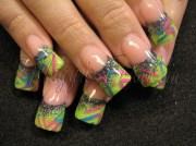 rockstar in green - nail art