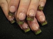 rockstar in green & brown - nail
