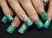 rockstar acrylic - nail art