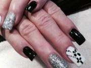 funeral nails - nail art