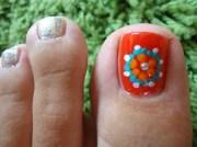 ethnic toe nail art