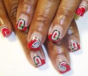 ohio state french - nail art