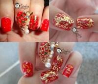 Gelish Nail Designs For Chinese New Year - NailArts Ideas