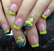 minion nail design - art
