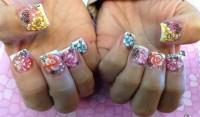 colorful 3D nails - Nail Art Gallery