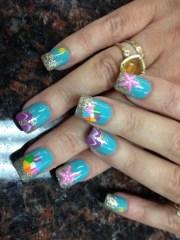 summer beach nails - nail art