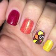 turkey thanksgiving nails - nail