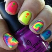 tie-dye nails - nail art