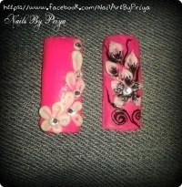 3d acrylic floral nails.... - Nail Art Gallery