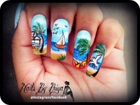 a day at beach - Nail Art Gallery