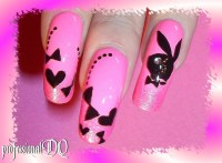 Playboy Bunny Design - Nail Art Gallery