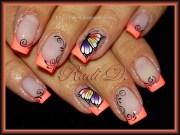 neon french - nail art