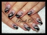 silver & black - nail art