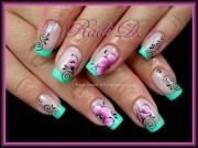 french flowers swirls - nail