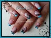 butterflies & swirls - nail art
