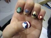 super hero nails - nail art