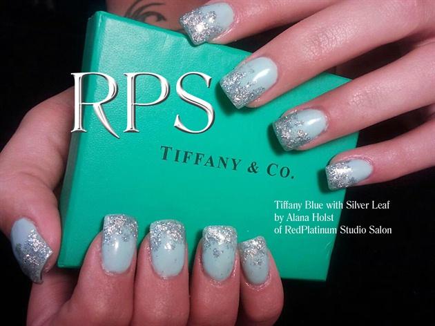 Tiffany Blue With Silver Leaf