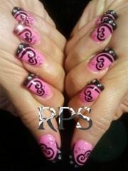 curly-cues - nail art