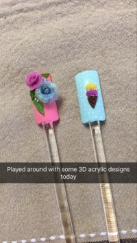 3D Acrylic Nail Art - Nail Art Gallery