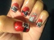 santa belt nail - art