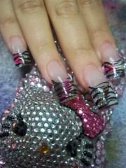diva zebra - nail art