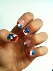 france nails - nail art