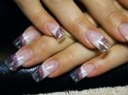 clear tips - nail art