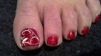 xmas toes - Nail Art Gallery