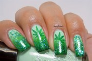 weeds inspired nails - nail art