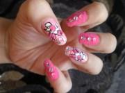 velvet puppy nails - nail art