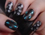 april showers - nail art