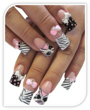 bow tie blind nail art