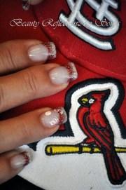 st louis cardinals - nail art