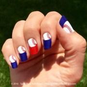 mlb baseball manicure - nail art