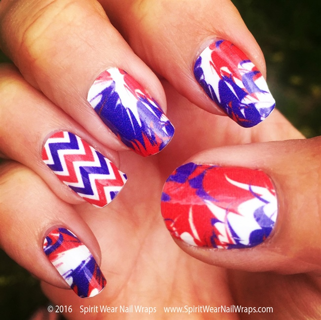 Prev Next Get Patriotic Red White Blue Nail Art Designs