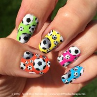 MLS Soccer Ball Nail Art Designs