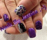 purple black silver leopard
