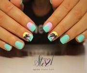 ombre tropical nails - nail art