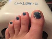 winter toes - nail art