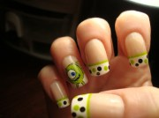monsters mike - nail art