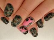 camo nails - nail art