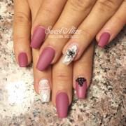 matte blush nails nail design