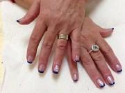 jewish star - nail art