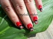lady bug inspired abstract nail