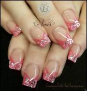 coral pink with swirls & stars