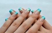 starfish beach - nail art