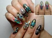 fierce summer - nail art
