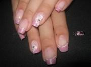 elegant rose - nail art
