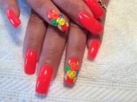 Nails Design 3d Flower - Nail Art Gallery