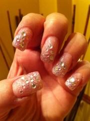 blinged - nail art